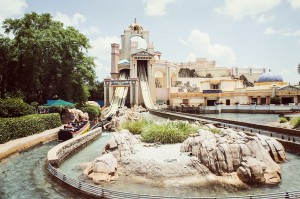 Atração Journey to Atlantis (frente)