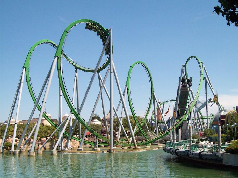Montanha russa do Incrível Hulk